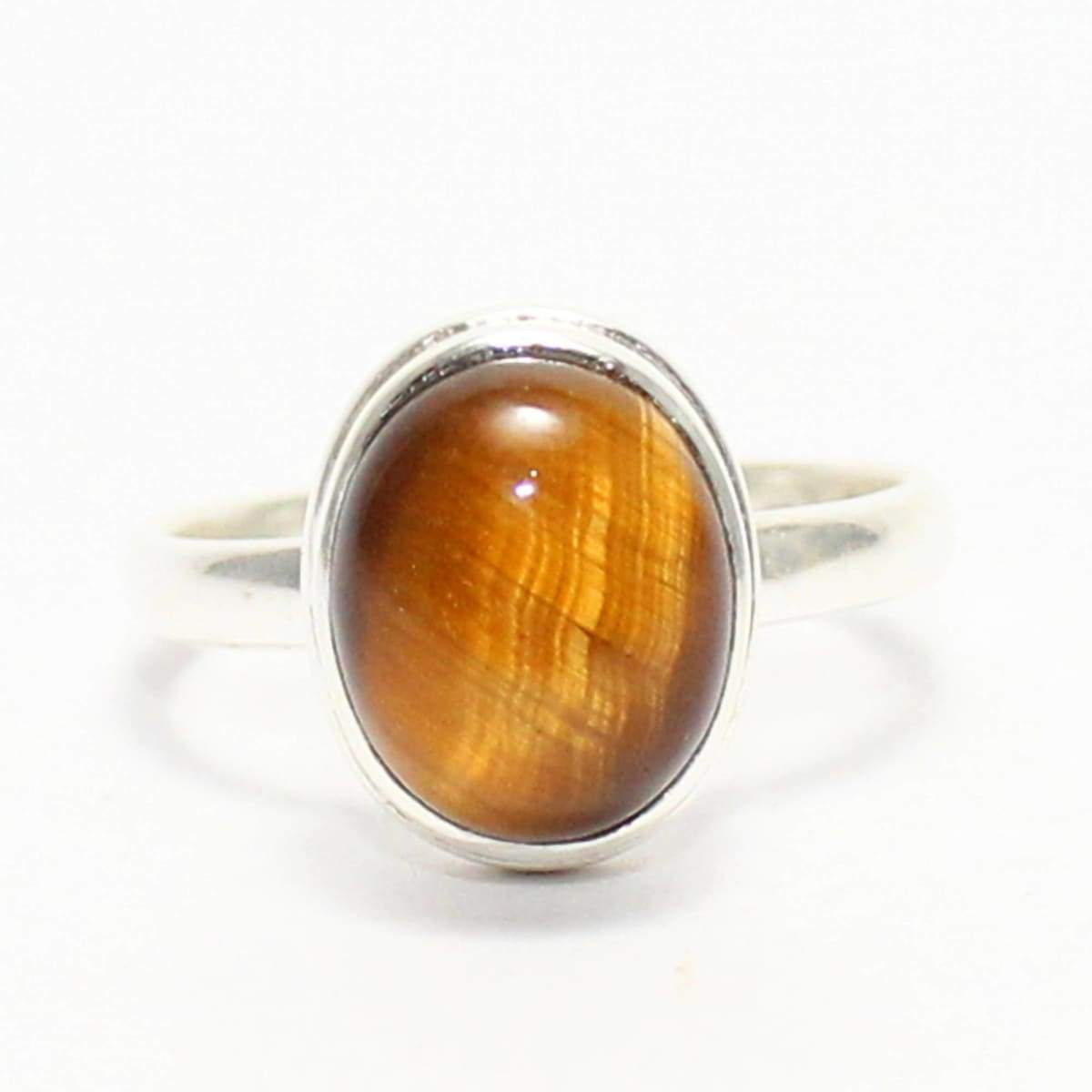 Rings Gorgeous NATURAL TIGER EYE Gemstone Ring Birthstone 925 Sterling Silver Fashion Handmade All Size Gift - by Jewelry Zone