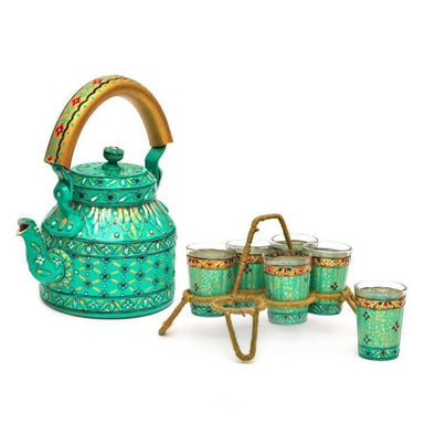 Kitchen & Dining Green tea set home decor