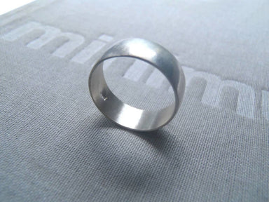 Rings Half-round ring wide & slim in brushed or blacked sterling! - by dikua