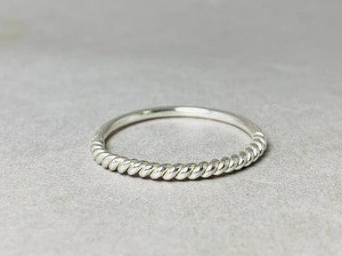 Half Twist Ring 925 Silver Unique Handmade jewelry Boho Stacking Band Round Gift - by Heaven Jewelry