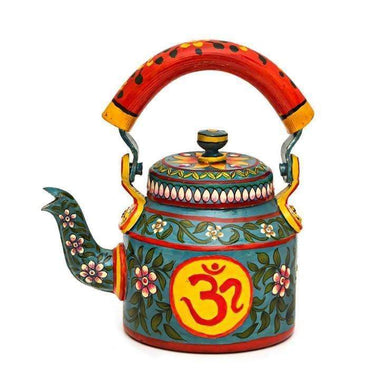 Painted Teapots Hand Om Design Tea Pot in Aluminium