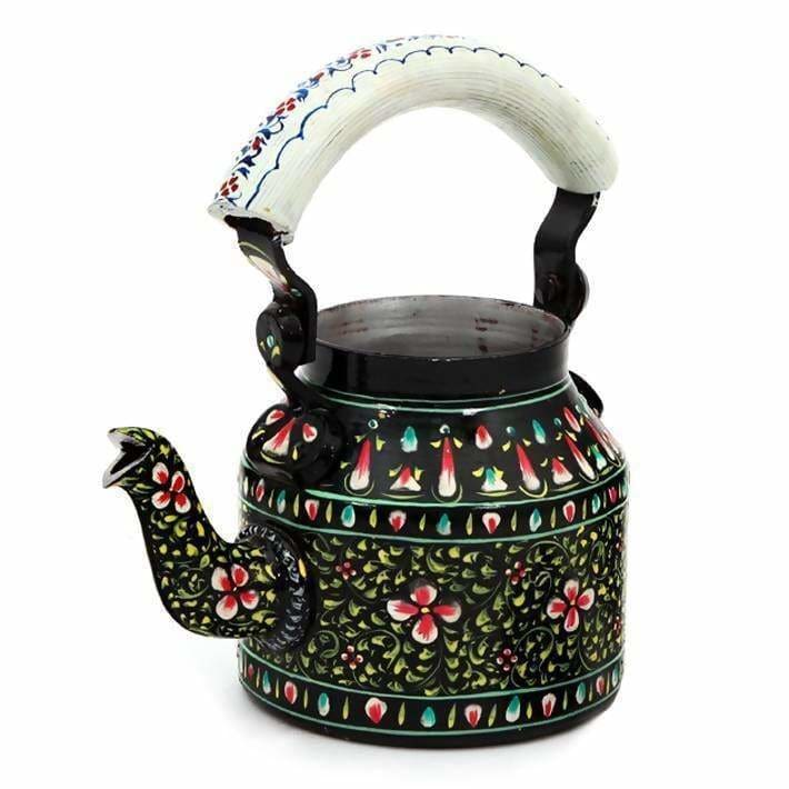 Painted Teapots Handcrafted Kaushalam Teapot: Black Beauty