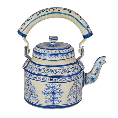 painted teapots Hand Painted Tea Kettle Royal Jaipur in Stainless Steel (750 ml) - by Mrinalika Jain
