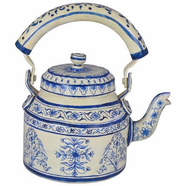 Painted Teapots KAUSHALAM HAND PAINTED TEA KETTLE (BIG): JAIPUR 2 STAINLESS STEEL (500ml) - by Mrinalika Jain
