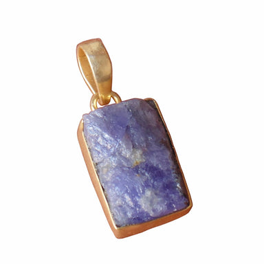 Handcrafted Natural Raw Tanzanite Gemstone Designer Statement Pendant