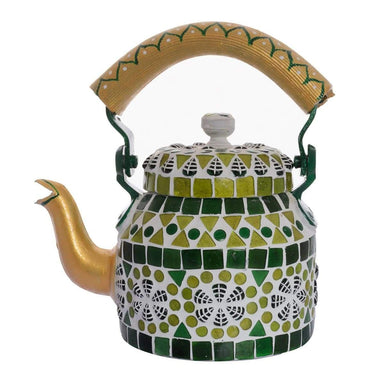 Painted Teapots Handcrafted Small Mosaic Teapot: Blue
