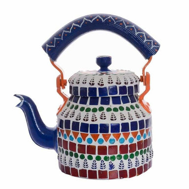 Painted Teapots Handcrafted Small Mosaic Teapot: Multicolor Design