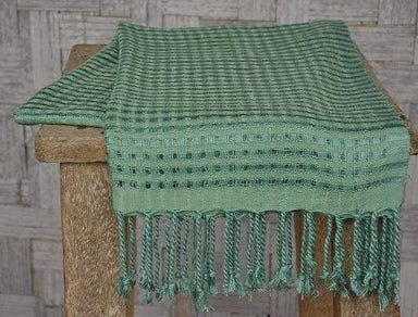 Handwoven Scarf Gossamer Greens and Yellows