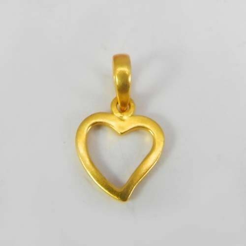 Necklaces Heart Outline Designer Gold Plated Pendant Jewelry Making women