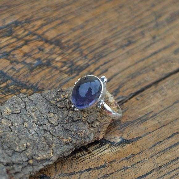 Rings Iolite Gemstone Sterling Silver Ring - Birthstone Jewelry
