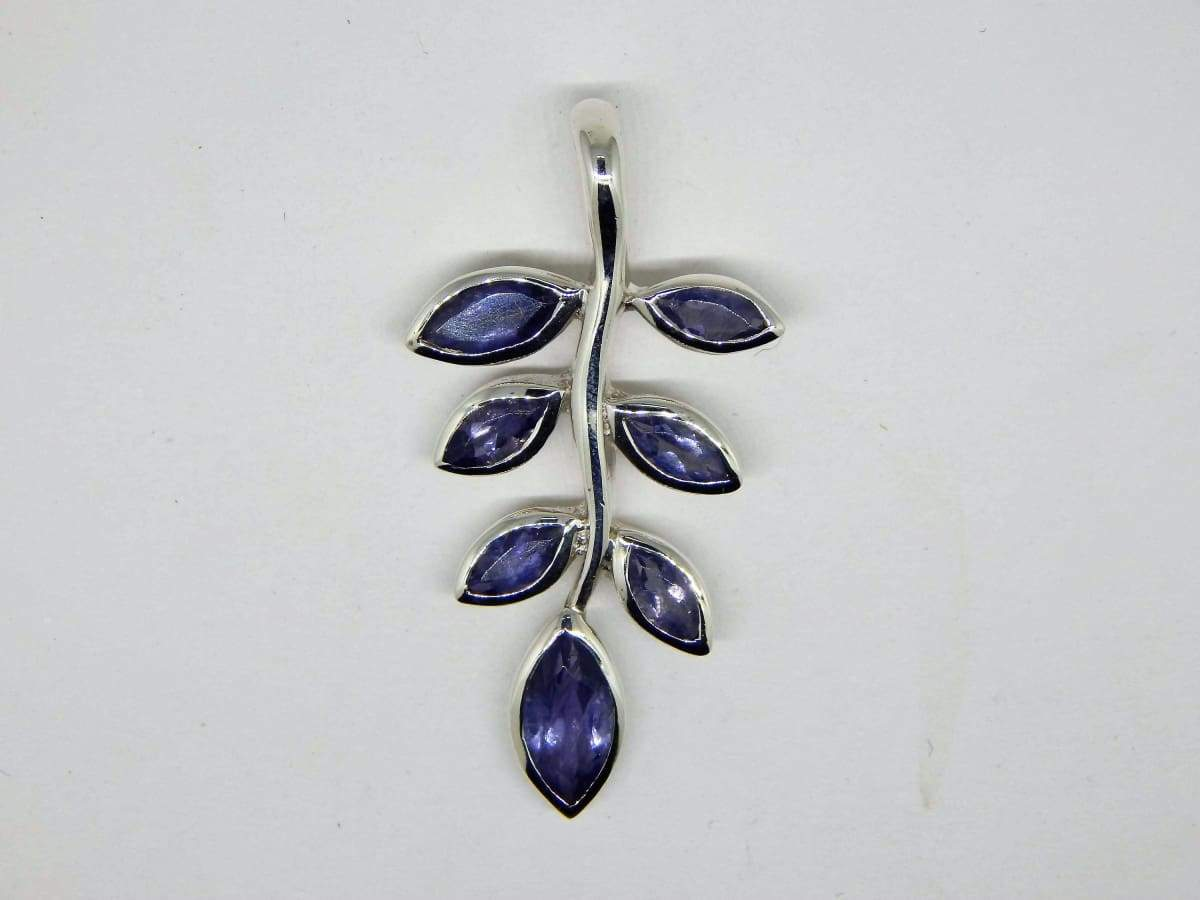 Necklaces Iolite Sterling Silver Pendant Jewelry