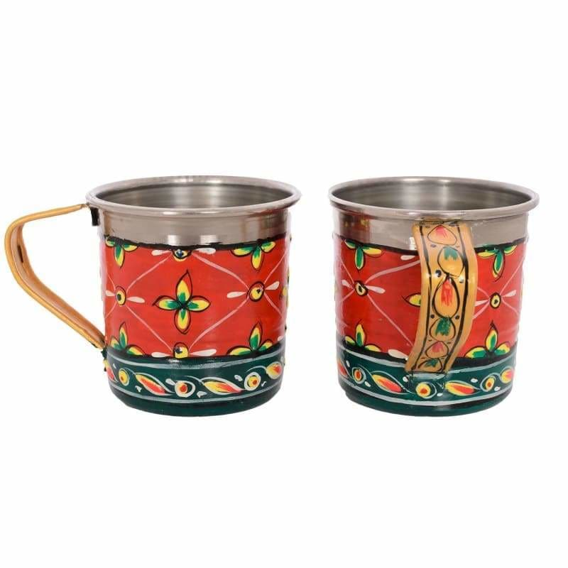 Kitchen & Dining KAUSHALAM HAND PAINTED TEA CUPS SET OF 4