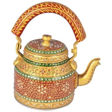 Home Decor KAUSHALAM HAND PAINTED TEA KETTLE: MAJESTIC