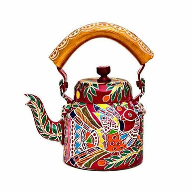 Painted Teapots KAUSHALAM HAND PAINTED TEA KETTLE: PEACOCK