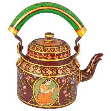Painted Teapots Kaushalam HAND PAINTED Tea Kettle - Royal Jaipur
