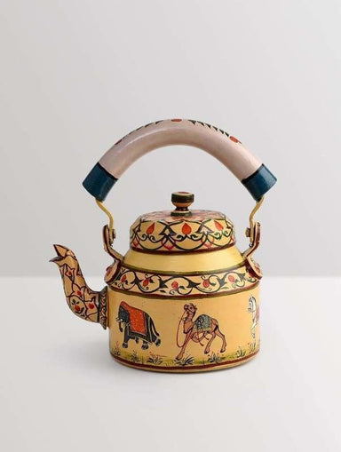 Kitchen & Dining KAUSHALAM HAND PAINTED TEA KETTLE:INDIALE CAMEL ELEPHENT