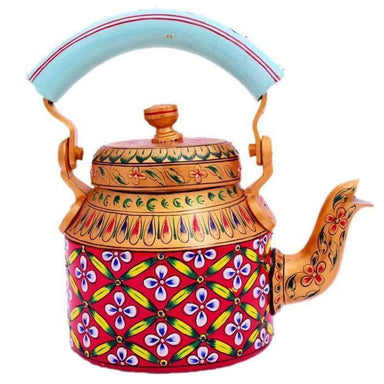 Kaushalam Hand Painted Tea Pot : Autumn Glow - Painted Teapots