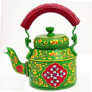 Kaushalam Hand Painted Tea Pot : Delight - Title - Painted Teapots