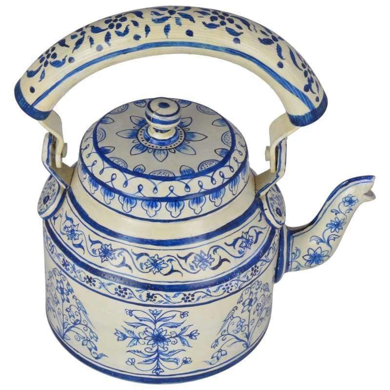 Painted Teapots KAUSHALAM HAND PAINTED TEA KETTLE BIG JAIPUR 2