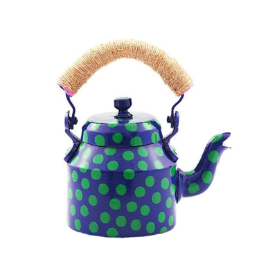 Painted Teapots Kaushalam Hand Tea Pot (500 ml): Polkamania Blue Lagoon