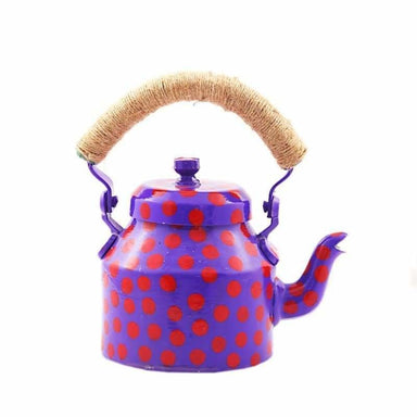 Kaushalam Hand Painted Tea Pot (500 ml) : Polkamania Purple - Title - Painted Teapots