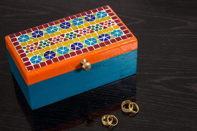 Home Decor KAUSHALAM MOSAIC TEA BOX: Multi