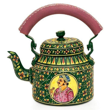 Painted Teapots KAUSHALAM SMALL TEA KETTLE - KING & QUEEN