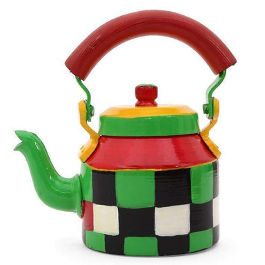 Painted Teapots Kaushalam Tea kettle: Checkers