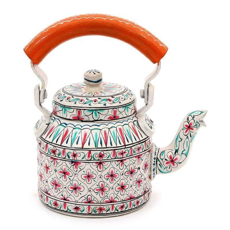 Painted Teapots Kaushalam Tea Pot: Beauty in Stainless Steel (500ml)