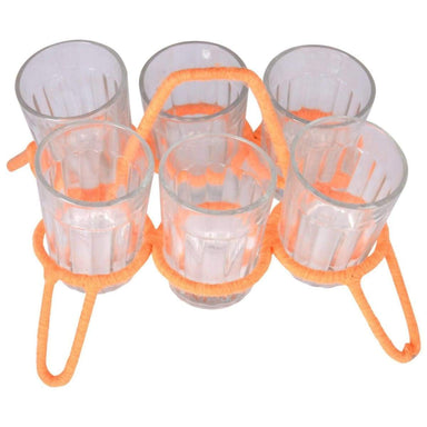 Kitchen & Dining Kaushalam's tea glass stand Chikha with glasses