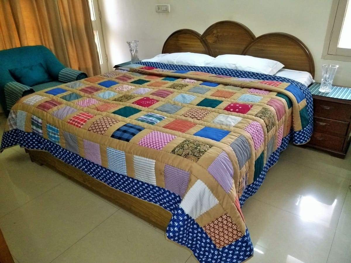 King size quilts for sale Patchwork Quilt Handmade Gifts Mom and Dad Adult Blankets FREE SHIPPING - by COLORS OF INDIA STUDIO