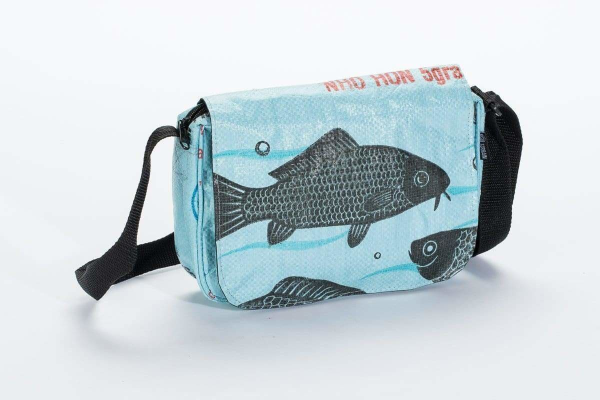 Shoulder Bags Kuna Crossbody Bag - Sky Blue Fish by TORRAIN