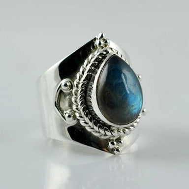 Rings Labradorite 925 Sterling Silver Handmade Ring for Women - 3 by Navya Craft
