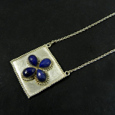 Necklaces Lapis Lazuli 925 Sterling Silver 20 inch Long Chain Designer Necklace
