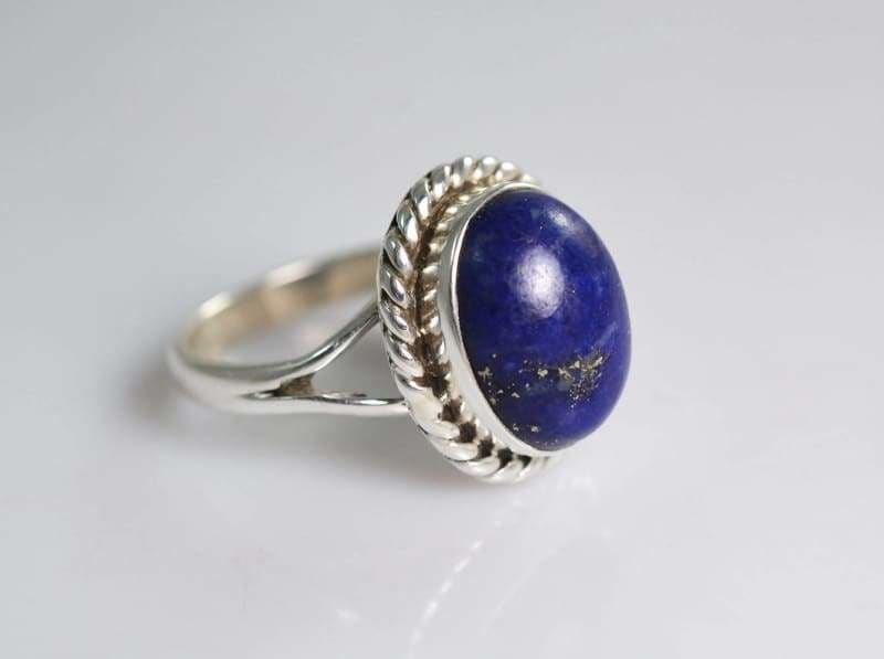 Rings Lapis Lazuli 925 Sterling Silver Handmade Ring for Women - 4 by Navya Craft
