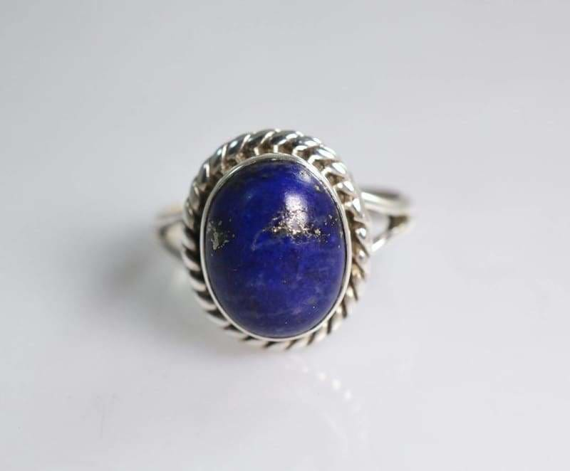 Rings Lapis Lazuli 925 Sterling Silver Handmade Ring for Women - by Navya Craft
