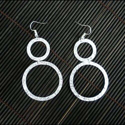 Earrings Large Silverplated Double Circle (this product takes longer to arrive*)