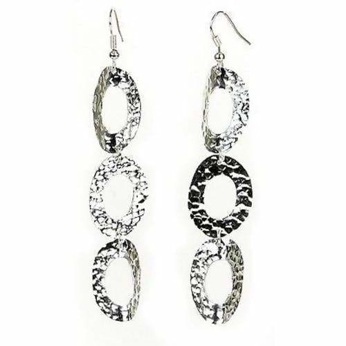 Earrings Large Silverplated Triple Oval (this product takes longer to arrive*)
