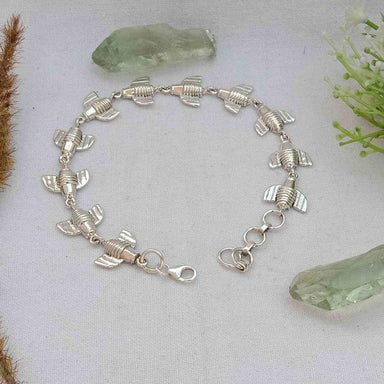 Lovely Bee Bracelet Plain Silver 925 Jewelry Unisex Dainty Engagement Animal - by InishaCreation