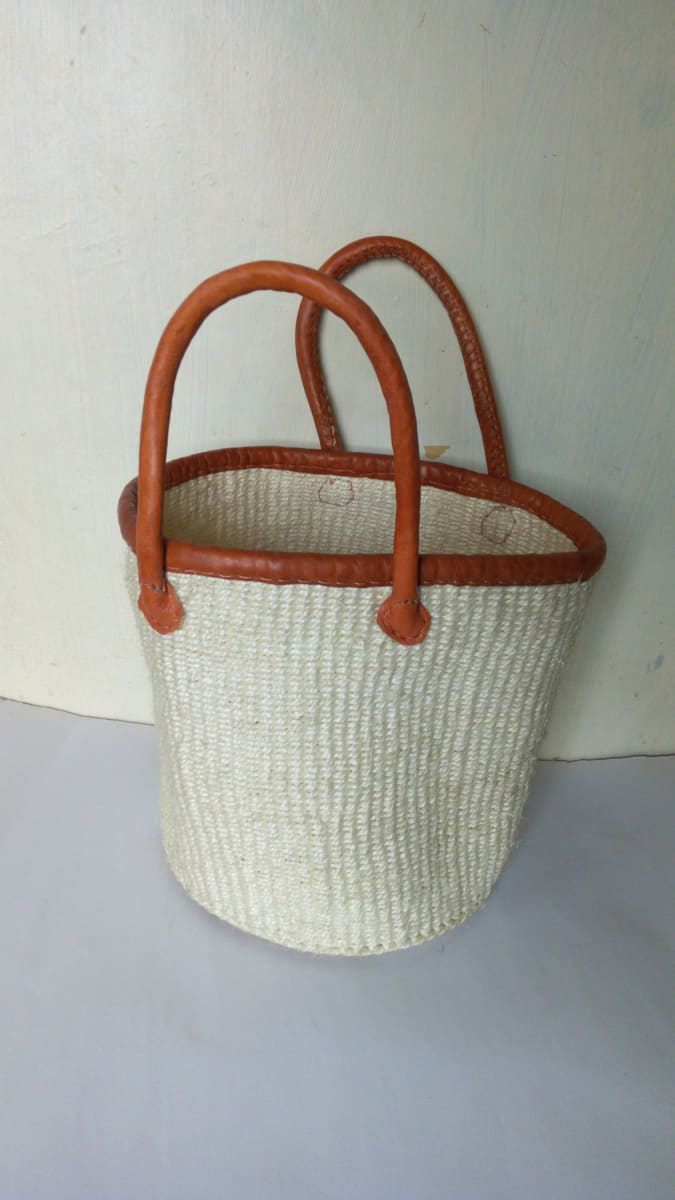 Baskets Market basket African sisal Woven market bag Beach Summer Ethnic Her gift - Title by Naruki Crafts