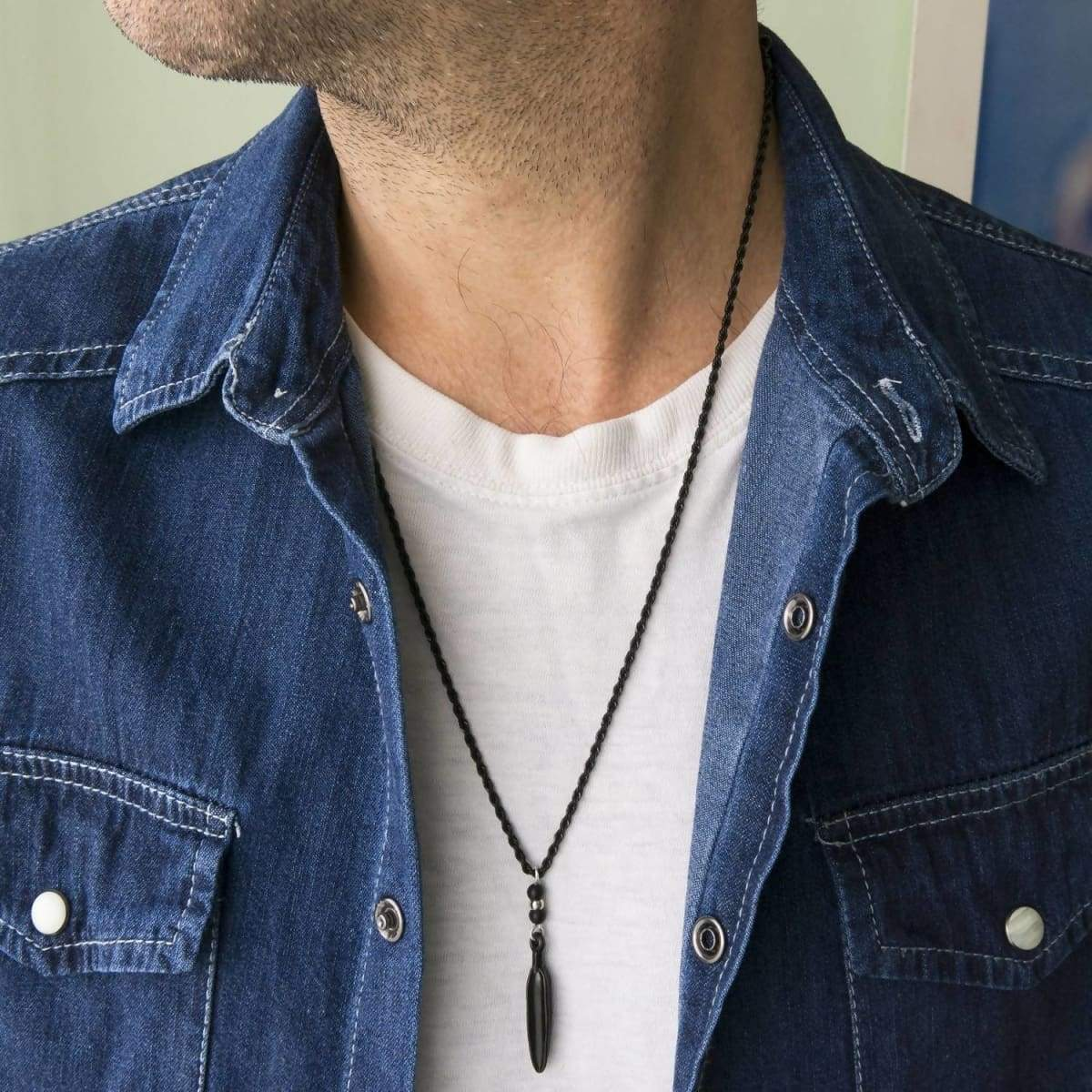 Necklaces Men Necklace - stainless steel - Jewelry - Gift - Boyfriend - Husband - For Him - Present - Male