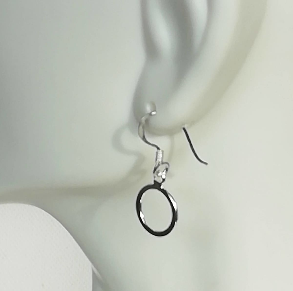 earrings Minimalist Earrings - Circle Of Life - Round Dangle - Silver - Wanderlust - Simple - G25 - by NeverEndingSilver