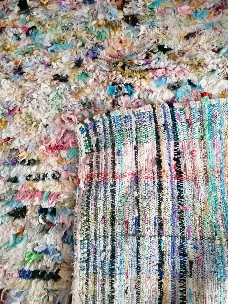 Moroccan Rug Handmade Boucherouite Colorful Bohemian - by Home