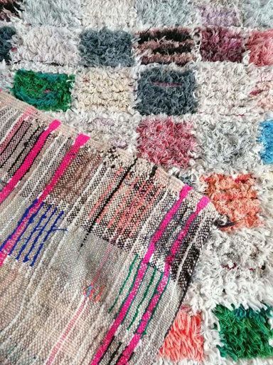 Floor & Rugs Moroccan Rug Handmade Boucherouite Colorful Bohemian - by Home