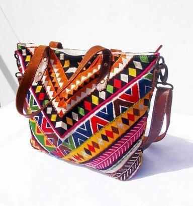 Multicolor Bohemian Tribal Tote Bag - Bags