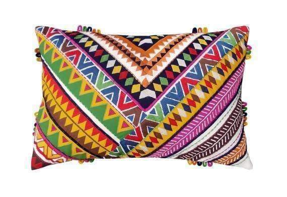 Multicolor Coloured Bohemian Pillow Cover in 100% Cotton - Pillows & Cushions