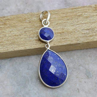 Necklaces Natural Blue Lapis Lazuli Gemstone 925 Sterling Silver Pendant Faceted Gift Jewelry January Birthstone