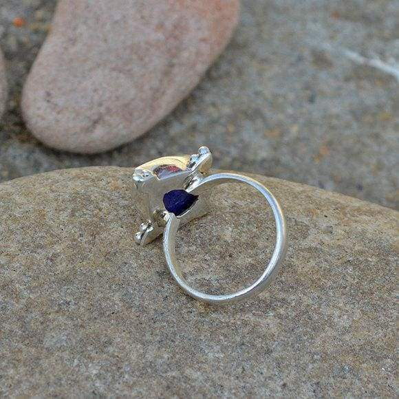 Rings Natural Blue Sapphire Gemstone Ring Sterling Silver September Birthstone Gift