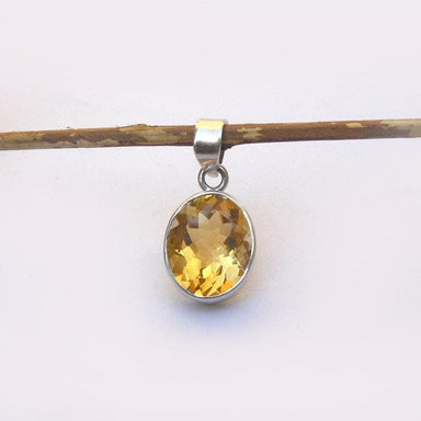 Necklaces Natural Citrine Pendant Necklace Birthstone jewelry Yellow Sterling silver necklace gemstone pendants