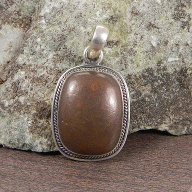 Necklaces Natural Copper Pyrite 925 Sterling Silver Designer Bezel Set Pendant